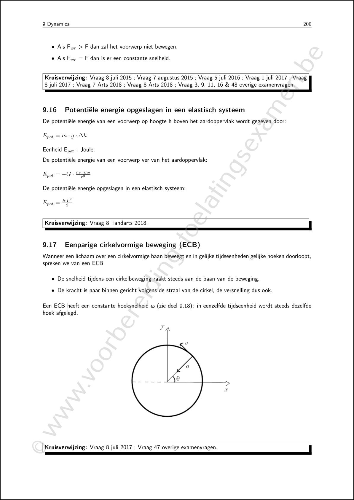 ingangsexamen cursus theorie fysica 2
